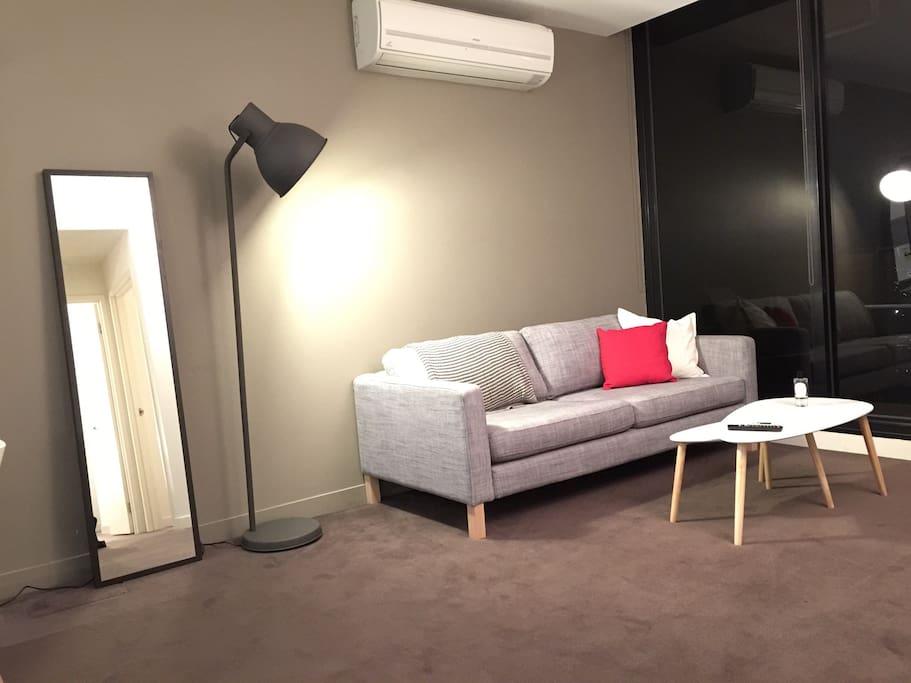 Modern furnishings throughout