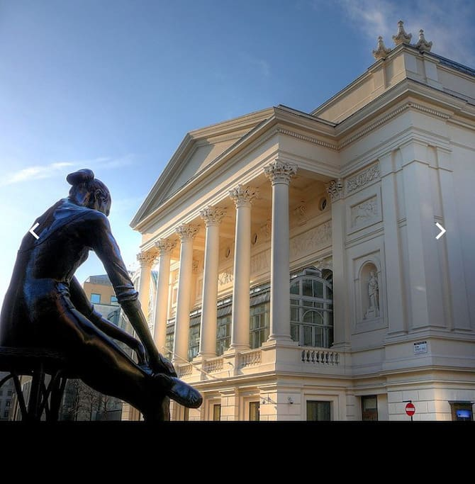 The Royal Opera House 4 min walking distance from my apartment