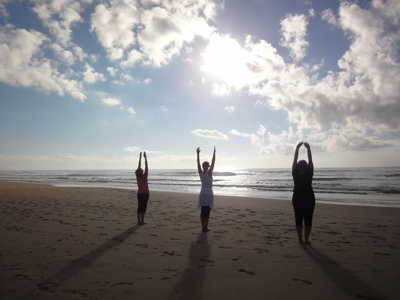 Yoga on the beach? or classes available within the resort