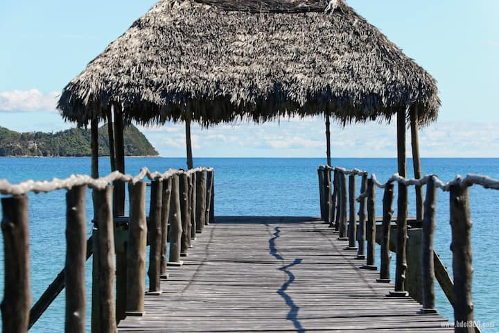 superb villa with private pontoon