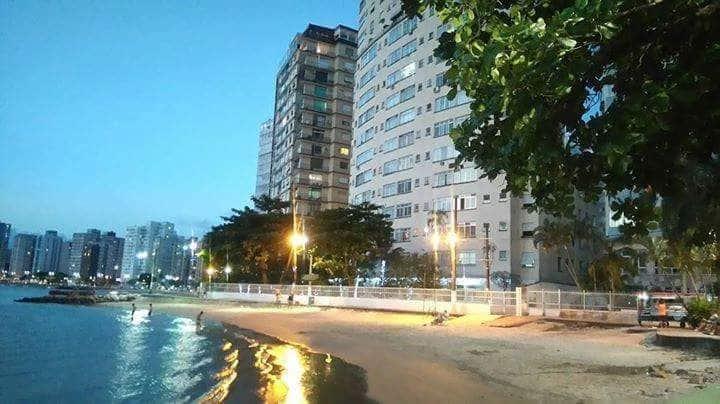 Apartamento São Vicente Pé na areia