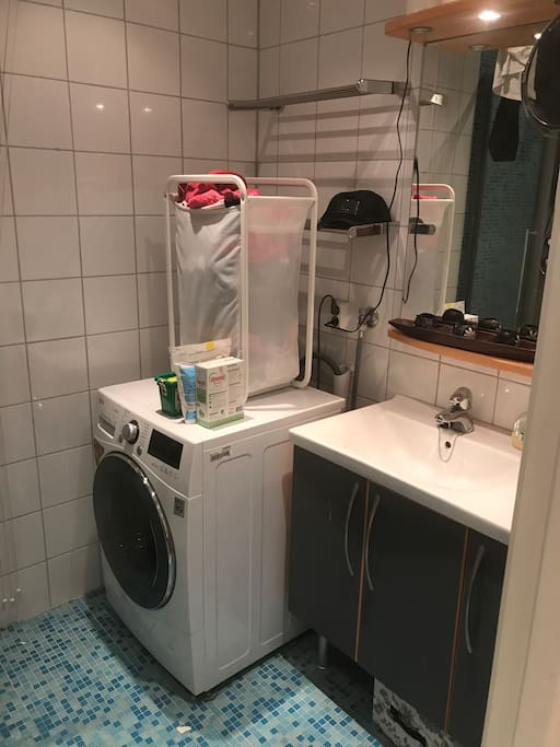 washing machine with dryer. hair drier
