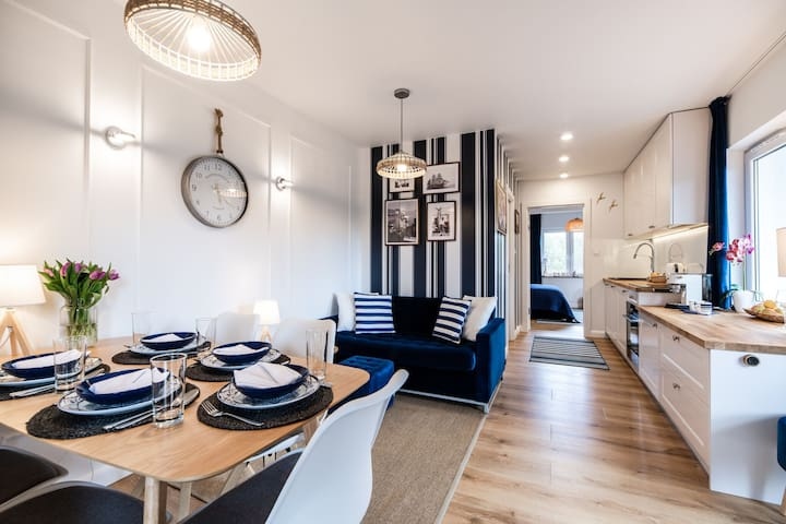 Apartament 13 Blue Marine w Rowach