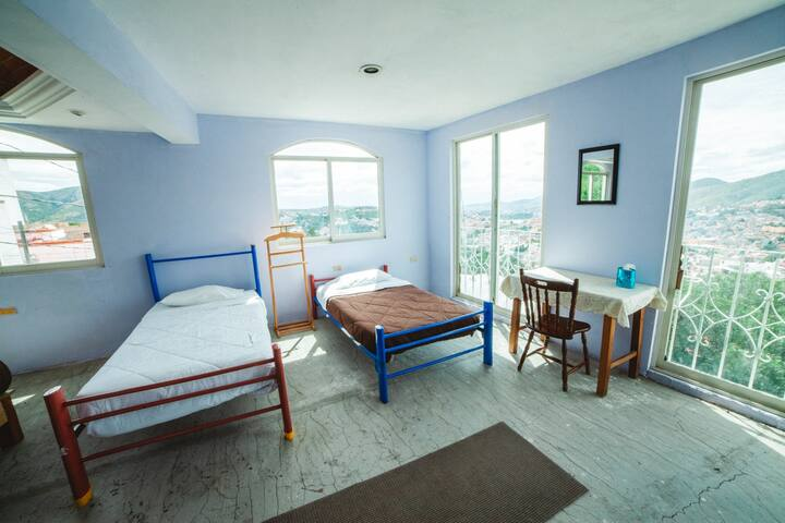Room with view to Pípila and the whole city of Guanajuato.