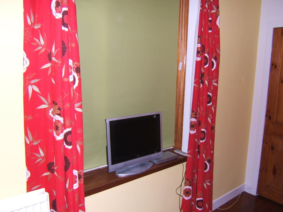 Twin room with TV on Digi box
