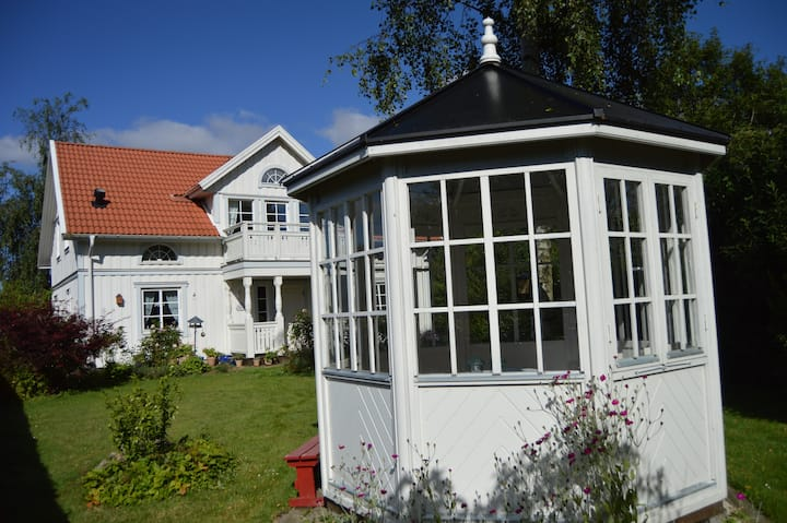 A Swedish white wooden house