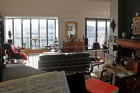 Beautiful duplex with balcony, terrace, glass wall - Wohnung