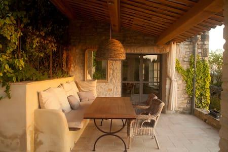 Elegant 17th's village stone house - Seguret - Haus