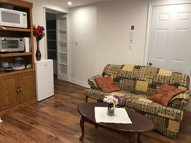 Jolie logement spacieux et confortable