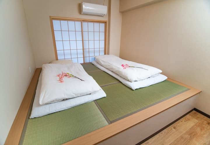 浅草花豆民宿,3F,浅草寺,上野步行圈,2卧室2浴室2厕所,推荐8人住宿