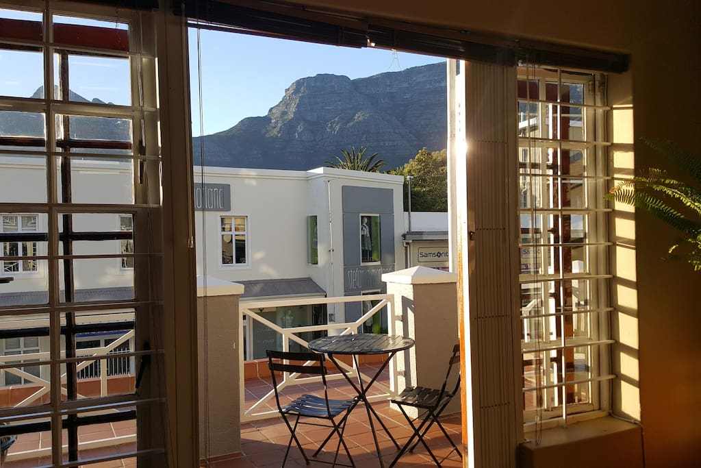 Balcony with views of Table Mountain