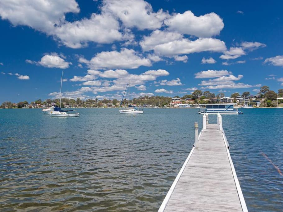 Absolute level waterfront with own jetty and fabulous views.