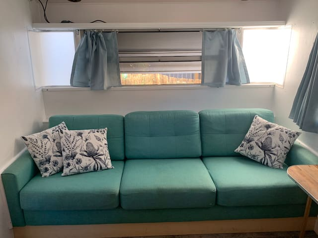 Sofa bed for 1 person, it is a wide sofa and it is good for sleeping too.