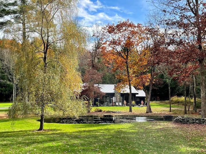 30 acre private retreat near Woodstock