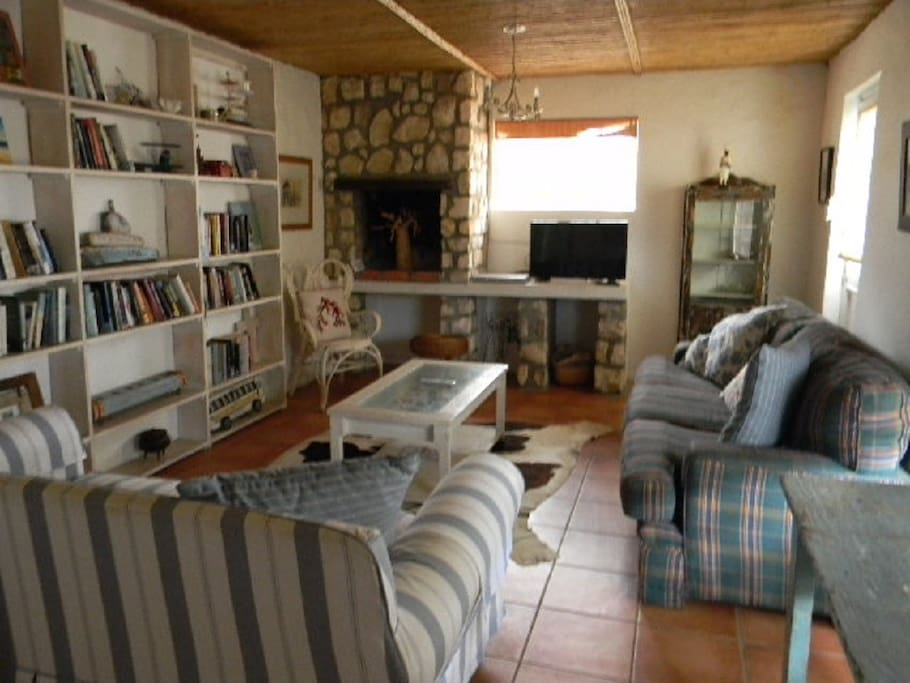A separate TV room with Guest House Package