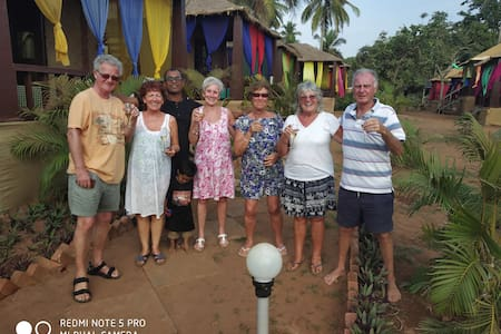 Shanti Village Resort, Beach huts at Agonda Beach