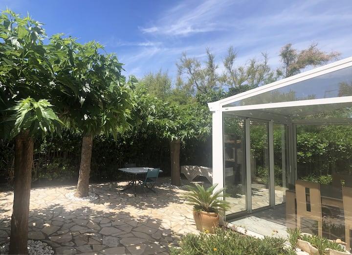 Maison individuelle avec jardin à 200m de la plage