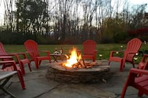 Relax around the fire pit