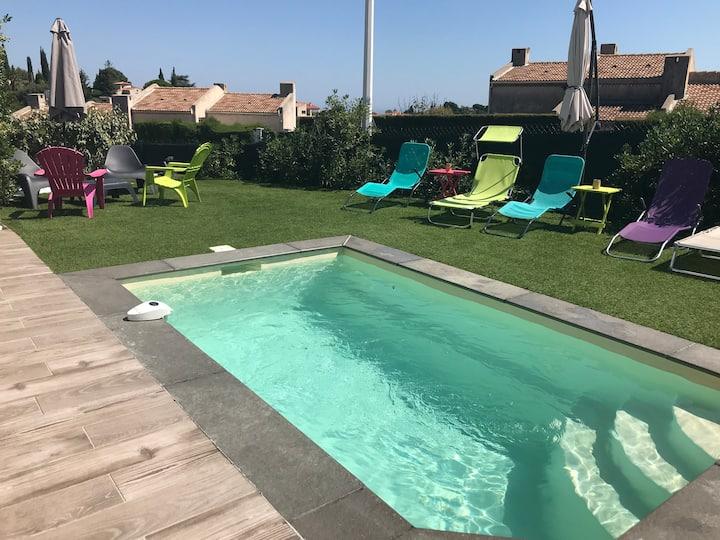 Superbe villa 100 m2 avec piscine