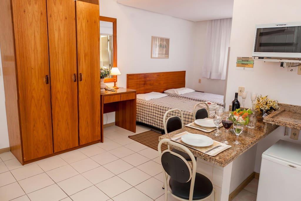 Cozinha americana apartamento duplex,parte inferior