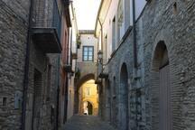 I suggestivi vicoli del centro storico