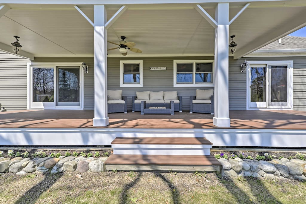 The lovely home features numerous sitting areas, farmer's porch and a spacious backyard.