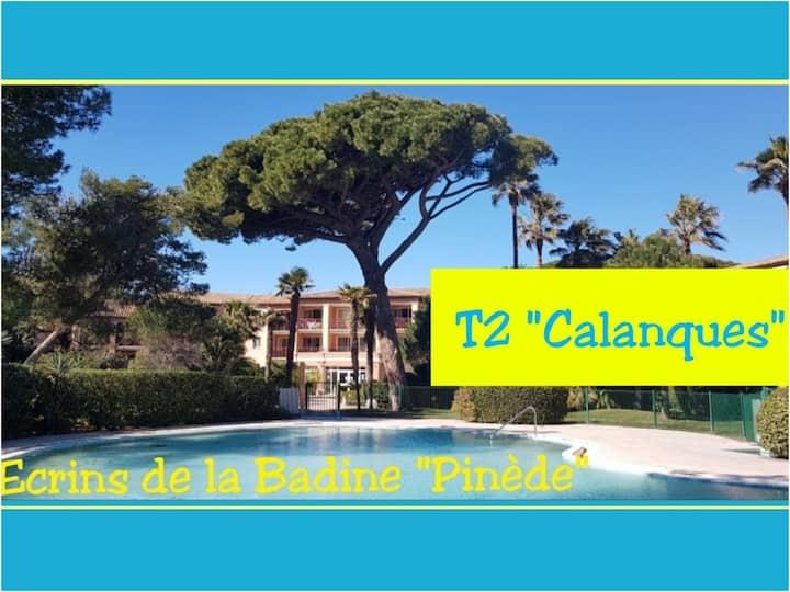 T2 Calanques 4pers Écrinsdelabadine piscine plage