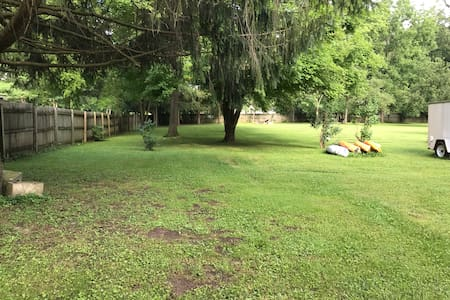 CAMPING spots,  Creek side  at Joyful Acres.