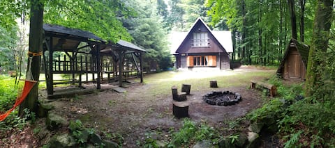 Slovak cottage in the Carpathians near Bratislava