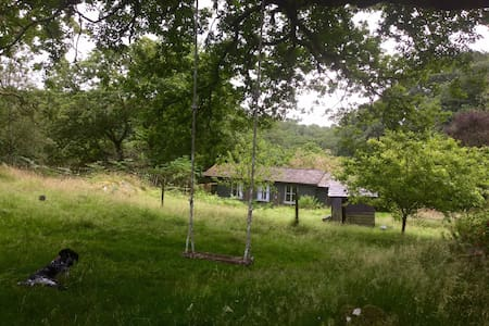 Snowdonia cabin in nature with hot tub - Blaenau Ffestiniog - 木屋