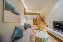 【佛系】保利天悦MO公寓精致大床loft公寓琶洲会展区域唯一复式的浪漫高端公寓深度睡眠舒适床垫