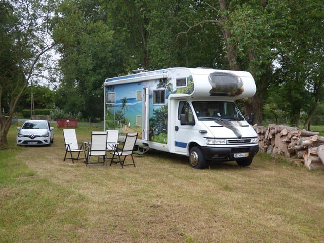 Camping van near beaches and watermill by Roscoff