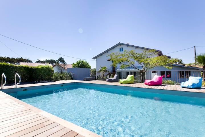 Villa Itsas Ondoa12P piscine Bidart**** - Biarritz