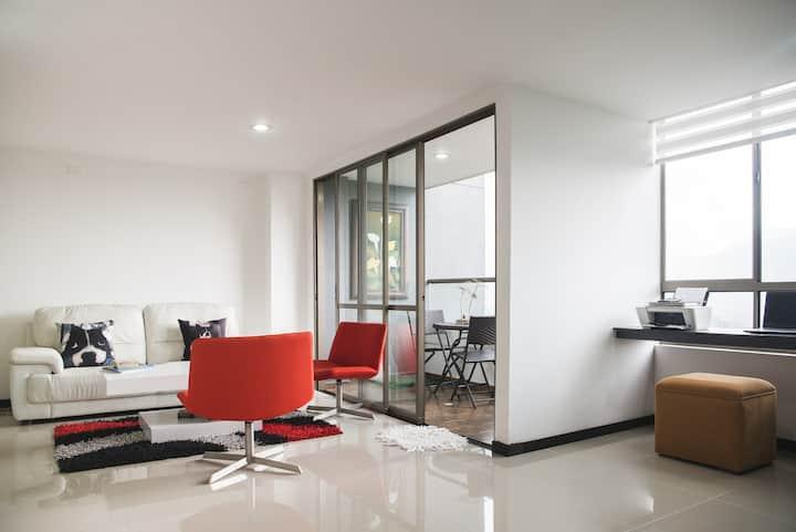 Hermosa vista!Moderno apartamento en el poblado