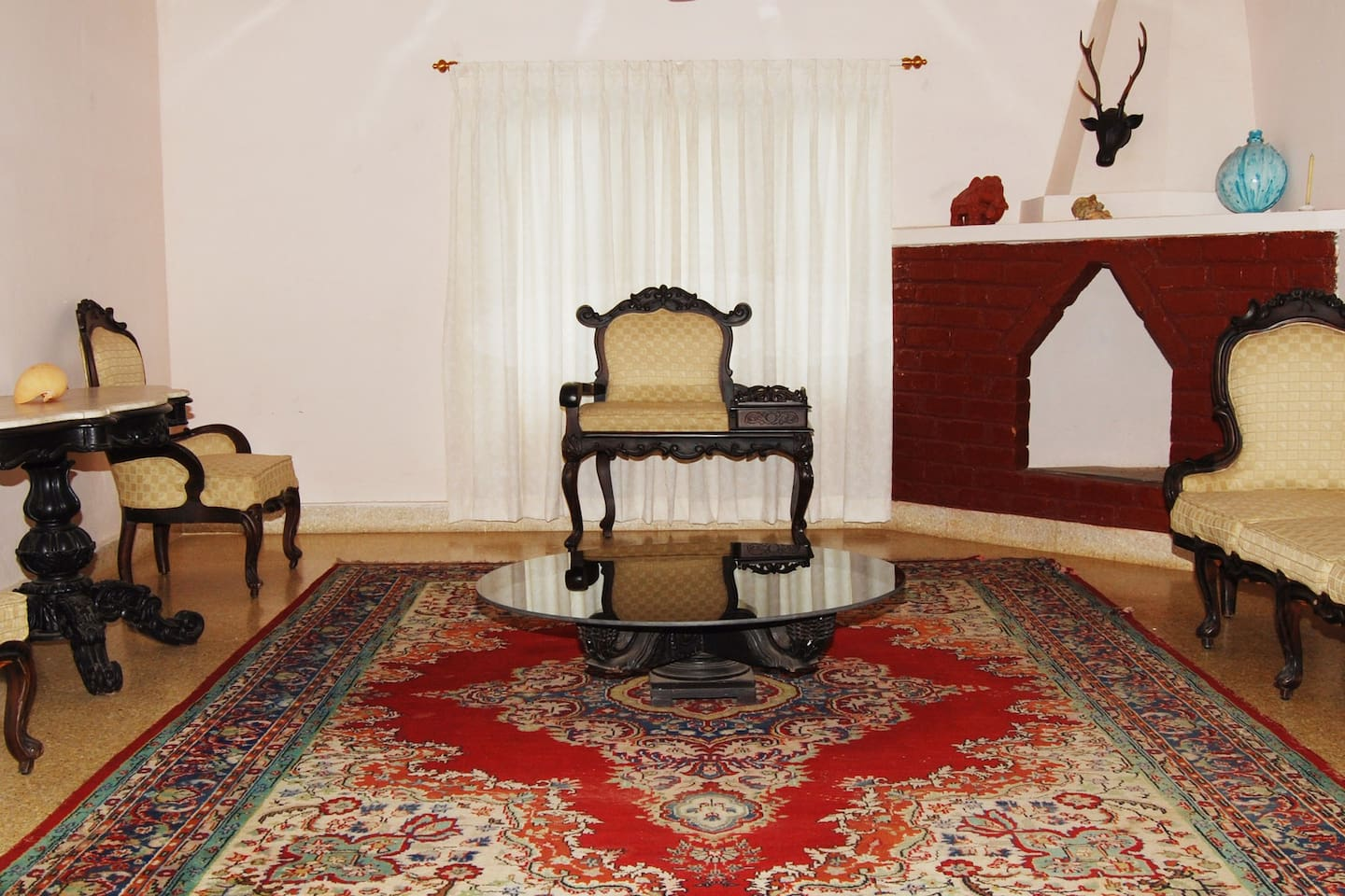 The elegant Living Room of HighPoint Home Stay in Thirthahalli, Shimoga.