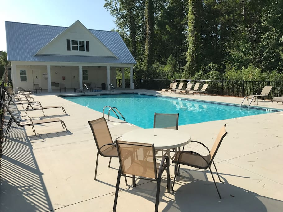 The pool is regularly serviced by the HOA and is less than an 100-yard walk from the home.
