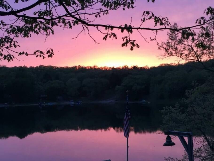 Amazing sunset over the lake!