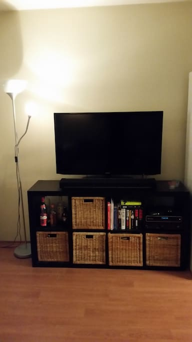 TV and Sonos music playbar can be used.