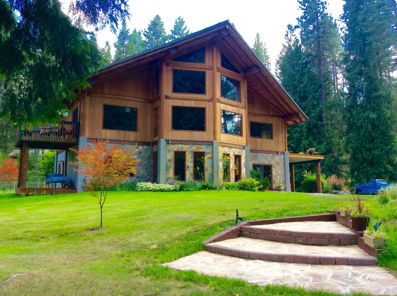 Our home on the bank of the Kettle River, 5 km from Christina Lake.