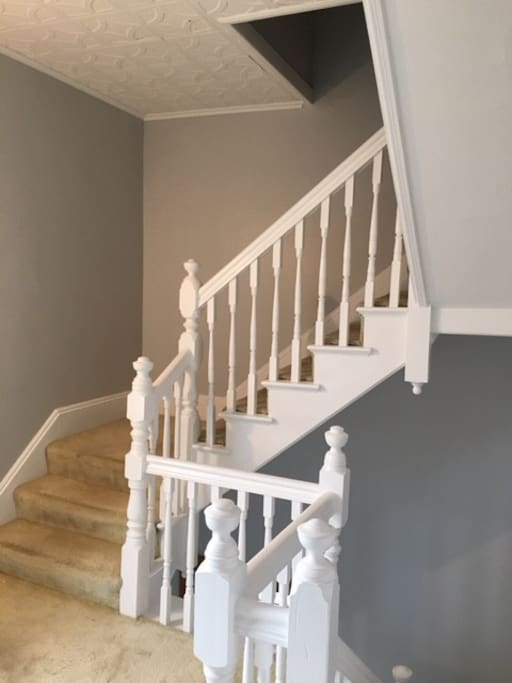 Victorian staircase to the private space