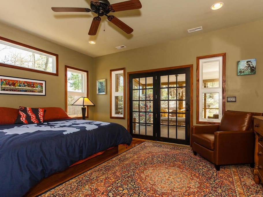 Master Bedroom with doors to Screened in Porch