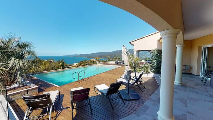 Villa Juliana : beautiful contemporary villa overlooking the Gulf of Valinco