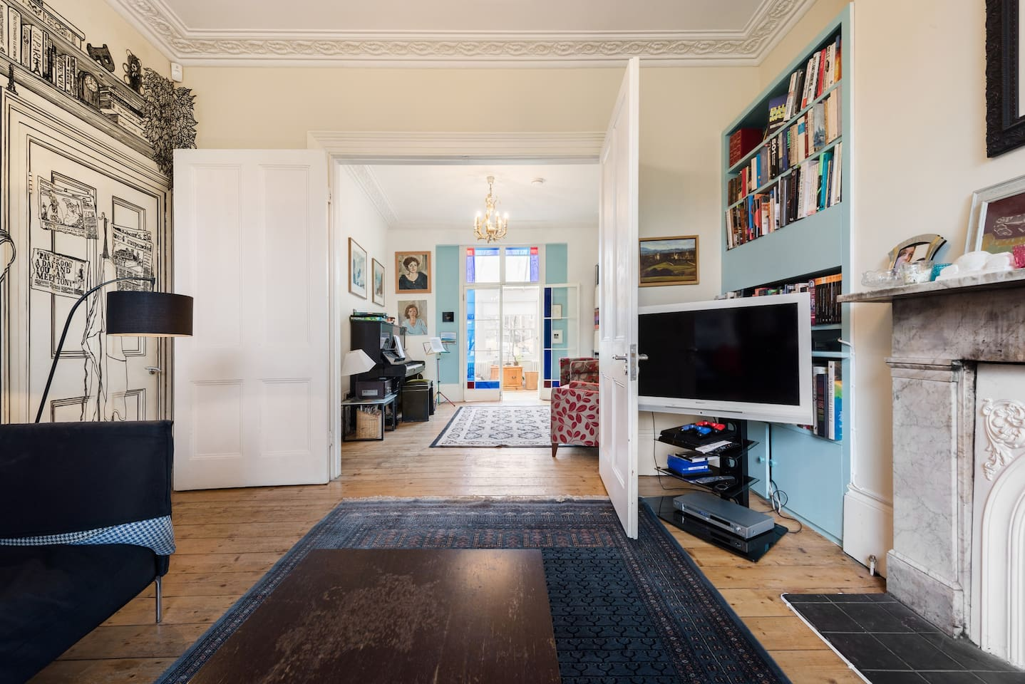 Walk through double reception room from front