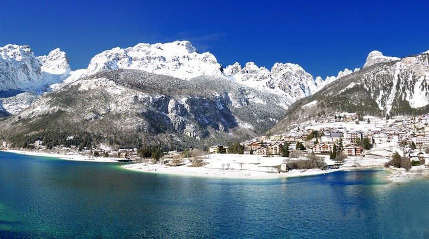 Molveno:  Sun in the most beautiful lake of italy