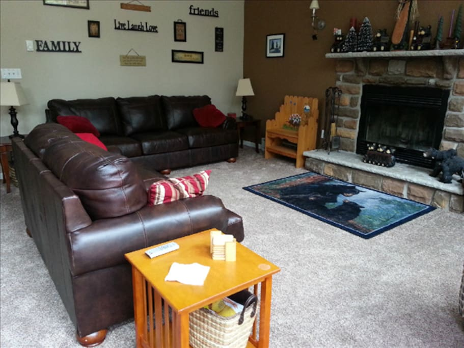 Lots of space to spread out - fireplace, large screen TV, all the comforts of home