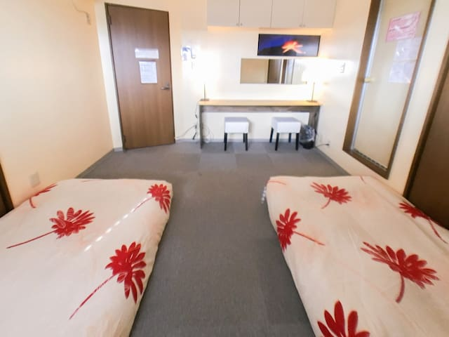 Private room with private bathroom! Heat of Kyoto!