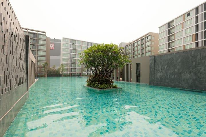 超大泳池城市度假屋
