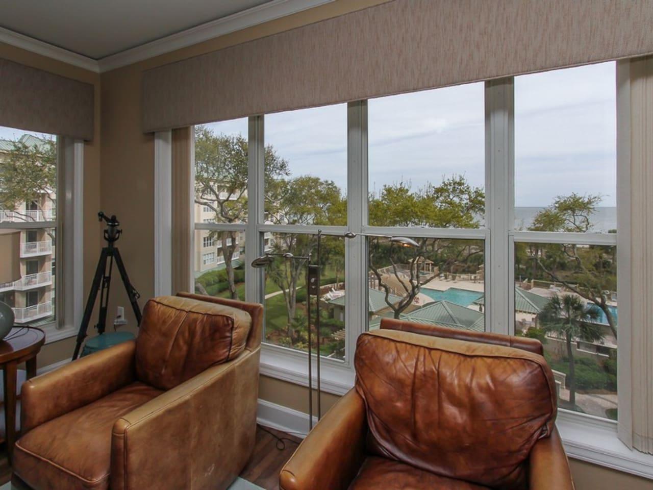 Ocean Views from Living Room at 6401 Hampton Place