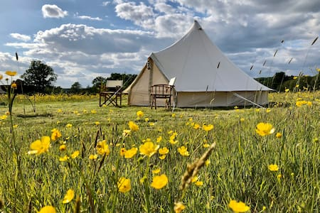 Bell tent glamping within a country estate in Kent