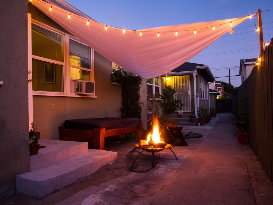 Firepit and daybed